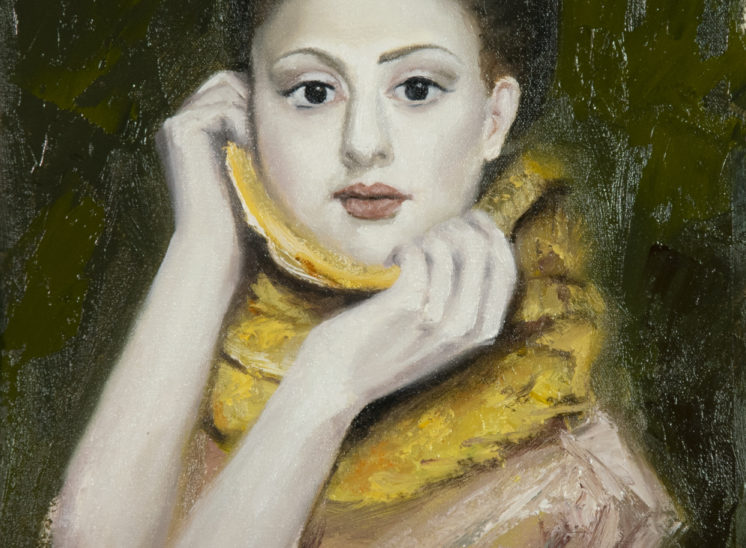 Girl with yellow shawl
