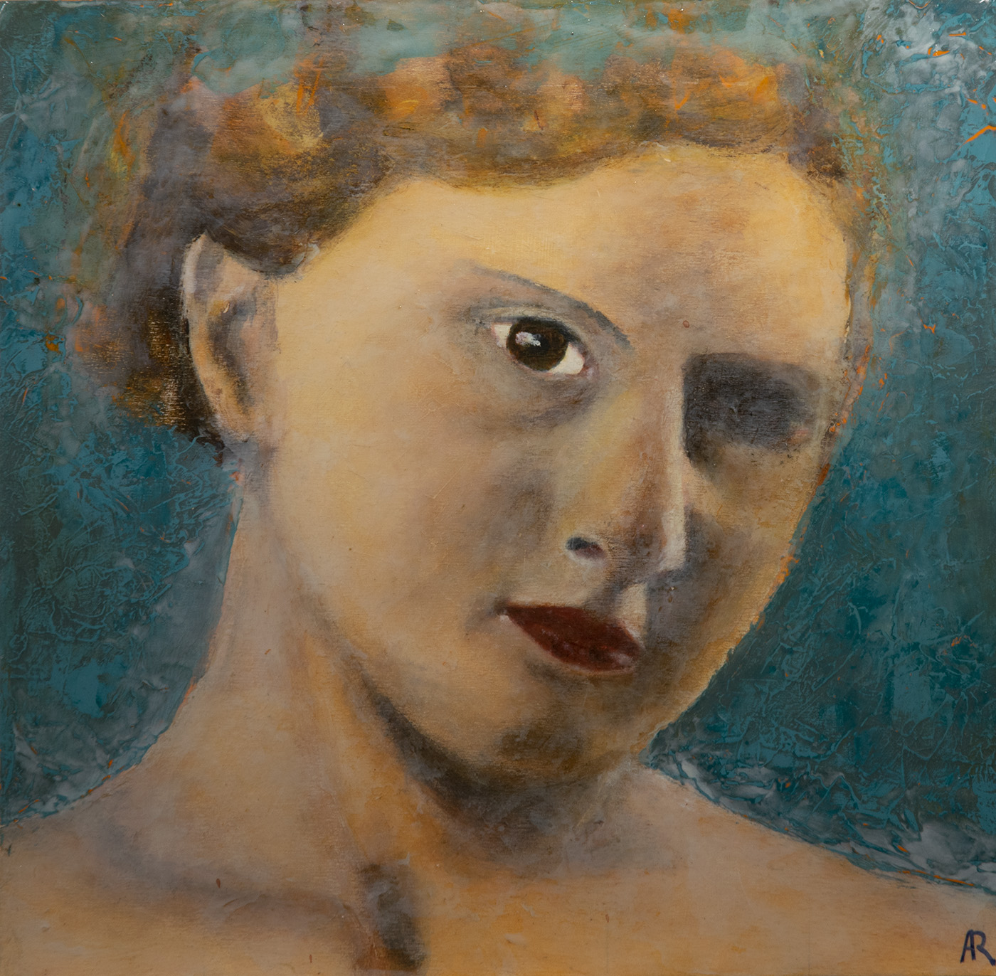 Fading past, portrait of a woman by andré romijn