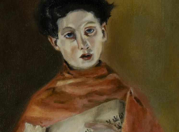 Un cantante sacro, a study after Antonio Mancini