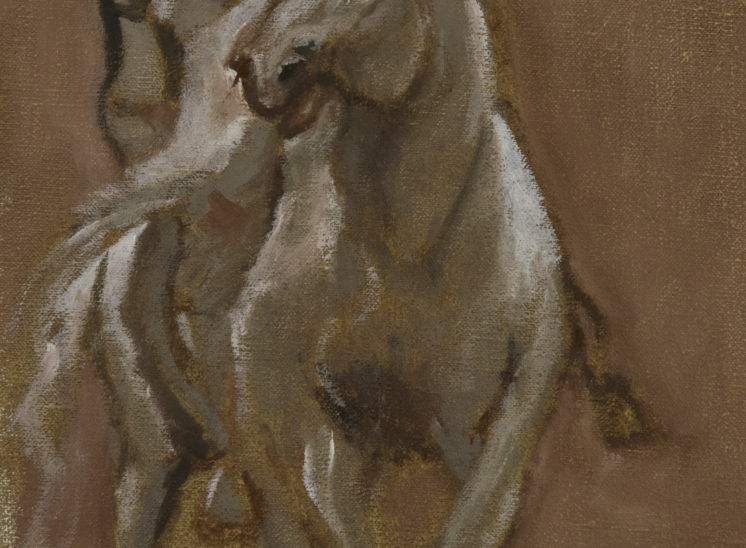 A soldier on horseback after Anthony van Dyck