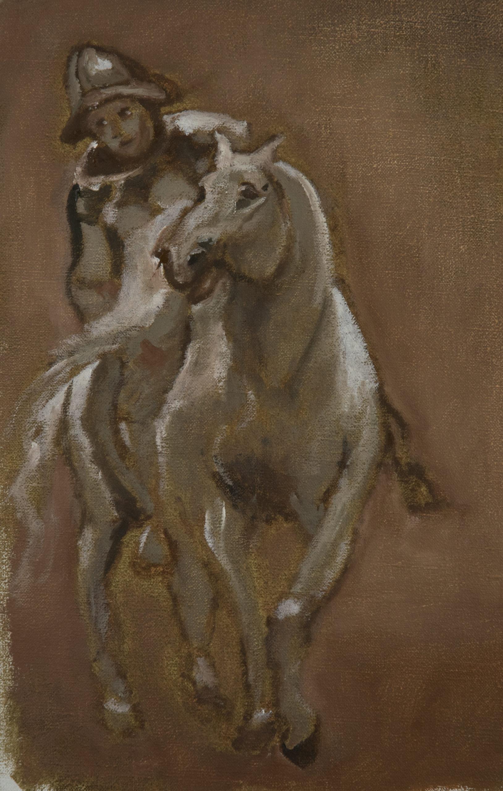 A soldier on horseback after Anthony van Dyck