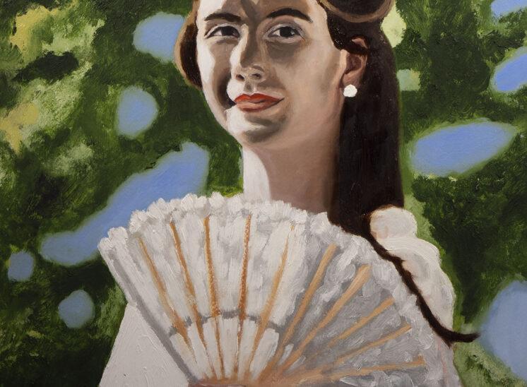 Donna con ventaglio