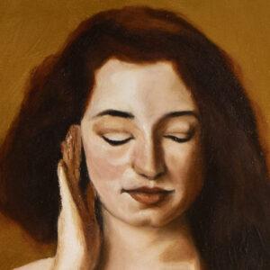 Golden memories by André Romijn Artist portrait painter
