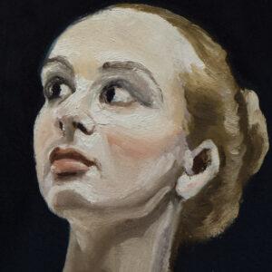 Ballet in blue by André Romijn Artist portrait painter